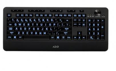 Teclado Azio KB506, Alámbrico, USB, Negro (Inglés)