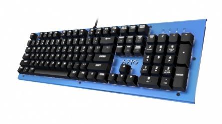 Teclado Azio MK HUE, Mecánico, Outemu Brown, Alámbrico, Azul (Inglés)