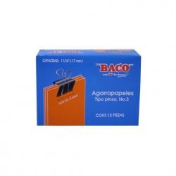 Baco Sujetadocumentos 41.2mm de Ancho de Pin para Grosor de 17mm, 12 Piezas