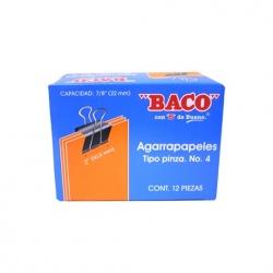 Baco Sujetadocumentos 50.8mm de Ancho de Pin para Grosor de 22mm, 12 Piezas