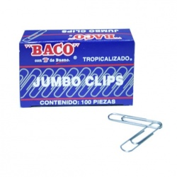 Baco Clip Jumbo Zincado/Tropicalizado, 100 Clips