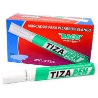 Baco Marcador para Pizarrón Blanco TIZAPEN, Verde, 12 Piezas