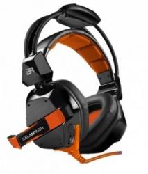 Balamrush Audífonos Gamer BR-912891, Alámbrico, USB, Negro/Naranja