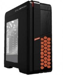 Gabinete Balam Rush SINIK con Ventana LED Naranja, Tower, ATX/Micro-ATX/Mini-ITX, USB 3.0/2.0, sin Fuente, Negro/Naranja
