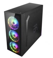 Gabinete Balam Rush Gaming DragonFly con Ventana, Midi-Tower, ATX/Micro ATX/Mini-ATX, USB 3.0, sin Fuente, Negro