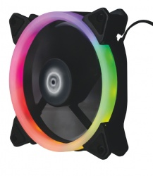 Ventilador Balam Rush EOLOX AIR RGB, 120mm, 1400RPM, Negro