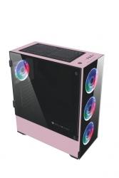 Gabinete Balam Rush THINOS con Ventana, Torre, ATX/EATX/Micro ATX/Mini-ITX, USB 2.0/3.0, sin Fuente, Negro/Rosa
