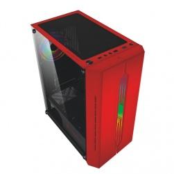 Gabinete Balam Rush CYCLOPS GSX5000 con Ventana, Midi-Tower, ATX/Micro ATX/Mini-ITX, USB 2.0/3.0, sin Fuente, Negro/Rojo