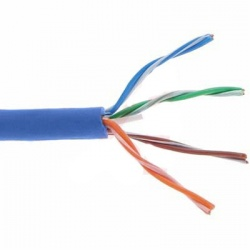 Belden Bobina de Cable Cat6a UTP, 304 Metros, Azul