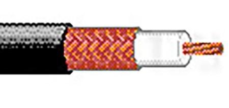 Belden Bobina de Cable Coaxial RG8X 305 Metros, Negro