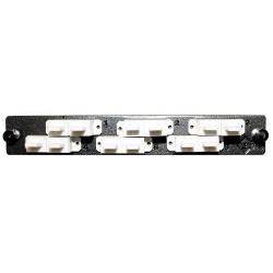Belden Panel de 12 Adaptadores de Fibra Óptica SC, Negro