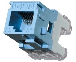 Belden Jack Modular Categoría 6+, RJ-45, Estilo KeyConnect, Azul