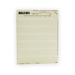 Belden Paquete de Etiquetas para Cables 2.5cm x 3.8cm, Blanco, 1200 Etiquetas