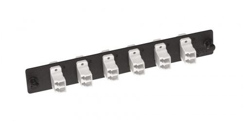 Belden Panel de 6 Adaptadores de Fibra Óptica LC Dúplex, Negro