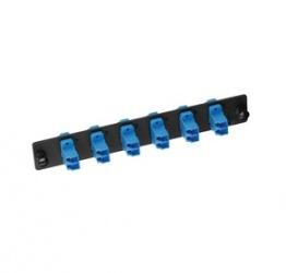 Belden Panel de 6 Adaptadores de Fibra Óptica LC Dúplex, Negro/Azul