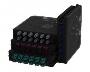 Belden Módulo de 12 Adaptadores Fibra Óptica LC Dúplex, OS2, Negro