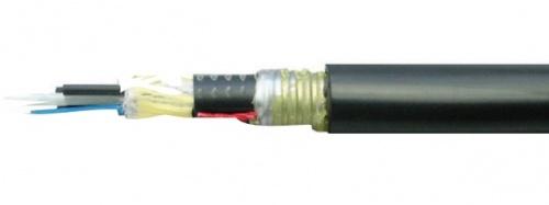 Belden Cable Fibra Óptica OM4 de 6 Hilos, Multimodo, Negro - Precio por Metro