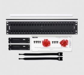 Belden Panel de Parcheo Cat6+ de 48 Puertos RJ-45, 2U, Negro