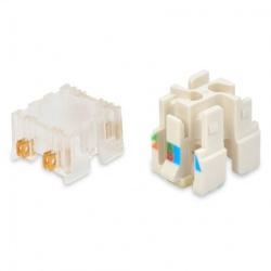 Belden Conector REVConnect Core, Transparente/Blanco, 50 Piezas