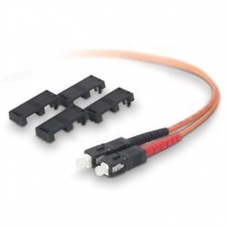 Belkin Cable Fibra Óptica Multimodo OFC SC Hembra - SC Hembra, 50/125µm, 1 Metro, Naranja