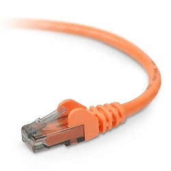 Belkin Cable Patch Cat6 UTP sin Enganches RJ-45 Macho - RJ-45 Macho, 60cm, Naranja