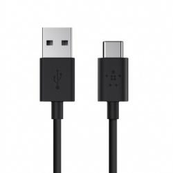 Belkin Cable USB A Macho - USB C Macho, 1.8 Metros, Negro