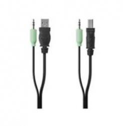 Belkin Cable USB A/3.5mm Macho - USB A/3.5mm Macho, 1.8 Metros, Negro