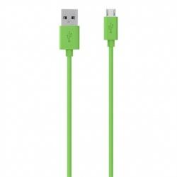 Belkin Cable USB A Macho - Micro USB B Macho, 1.2 Metros, Verde