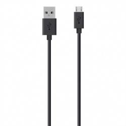 Belkin Cable USB A Macho - Micro USB B Macho, 3 Metros, Negro