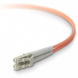 Belkin Cable Fibra Óptica Duplex LC Macho - LC Macho, 50/125, 5 Metros, Naranja