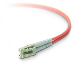 Belkin Cable Fibra Óptica Duplex LC Macho - LC Macho, 50/125µm, 20 Metros, Naranja