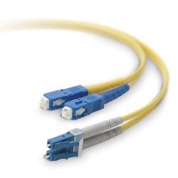 Belkin Cable Fibra Óptica Monomodo OFC LC Macho - SC Macho, 8.3/125µm, 3 Metros, Amarillo