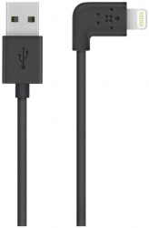 Belkin Cable Plano Lightning Macho - USB A Macho, 1.2 Metros, Negro