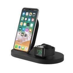 Belkin Cargador Inalámbrico Duo BOOST↑UP, para Apple Watch/iPhone X, Negro