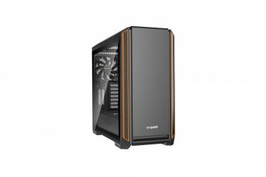 Gabinete be quiet! Silent Base 601 con Ventana, Midi-Tower, ATX/EATX/Micro-ATX/Mini-ITX, USB 3.1, sin Fuente, Negro/Naranja