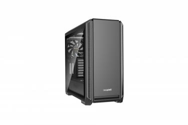 Gabinete be quiet! Silent Base 601 con Ventana, Midi-Tower, ATX/EATX/Micro-ATX/Mini-ITX, USB 3.1, sin Fuente, Negro/Plata