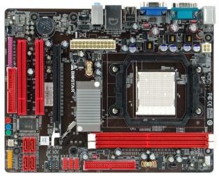 Tarjeta Madre Biostar micro ATX N68S, S-AM3, Nvidia MCP68S, 8GB DDR2, para AMD