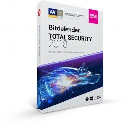 Bitdefender Total Security 2018, 5 Usuarios, 1 Año, Windows/Mac/Android/iOS