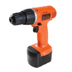 Black & Decker Taladro CD121K100, Inalambrico, 12V, Naranja