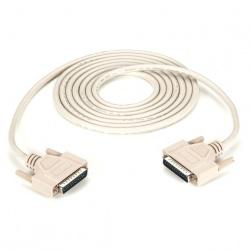 Black Box Cable Serial DB25 Macho - DB25 Macho, 3 Metros, Beige