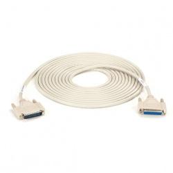 Black Box Cable Serial DB25 Macho - DB25 Hembra, 6 Metros, Beige