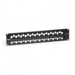 Black Box Panel de Parcheo GigaTrue Cat6a de 48 Puertos, 2U, Negro