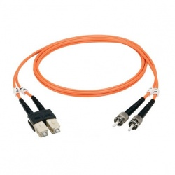 Black Box Cable Fibra Óptica OM1 Dúplex Multimodo LC Macho - ST Macho, 5 Metros, Naranja