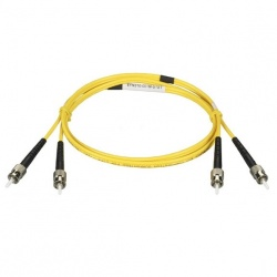 Black Box Cable Fibra Óptica OS2 Dúplex Monomodo ST Macho - ST Macho, 20 Metros, Amarillo