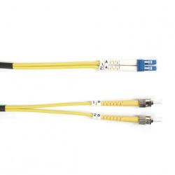 Black Box Cable Fibra Óptica OFC ST Macho - LC Macho, 5 Metros, Amarillo