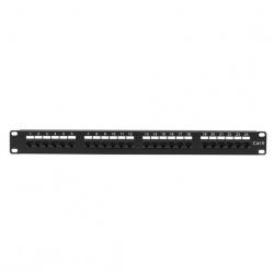 Black Box Panel de Parcheo de 24 Puertos, 1U, Negro