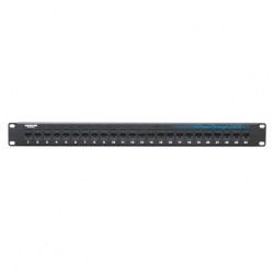 Black Box Panel de Parcheo Cat6 de 24 Puertos, RJ-45, Negro