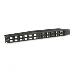 Black Box Panel de Parcheo Angulado SpaceGAIN 45°, 24 Puertos, Negro