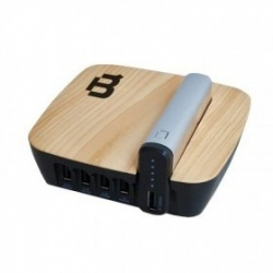 Blackpcs Base de Carga + Power Bank EPBS6-4000/5V, 4x USB 2.0, Plata