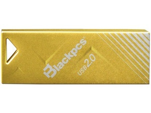 Memoria USB Blackpcs MU2104, 128GB, USB 2.0, Oro